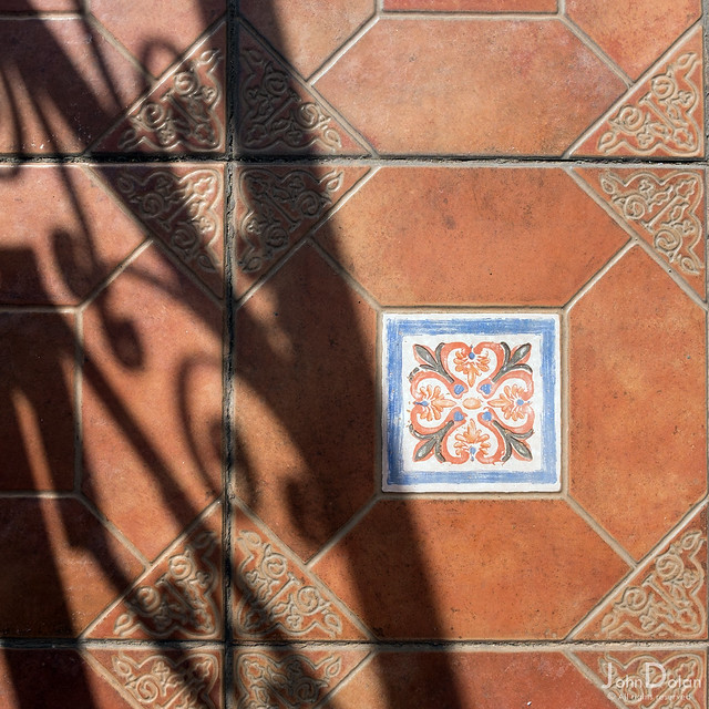 tile and shadow | ground works | tenerife