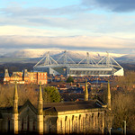 St Paul's Church, Old Royal Infirmary, Preston Football Stadium and the Bowland Fells