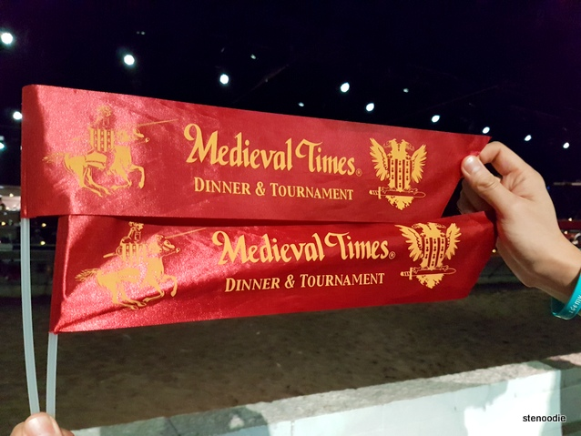 Medieval Times cheering banners