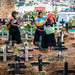 Tzotzil (Maya) women preparing the cemetery for the Day of the Dead. San Juan Chamula. Chiapas, Mexico por ravalli1