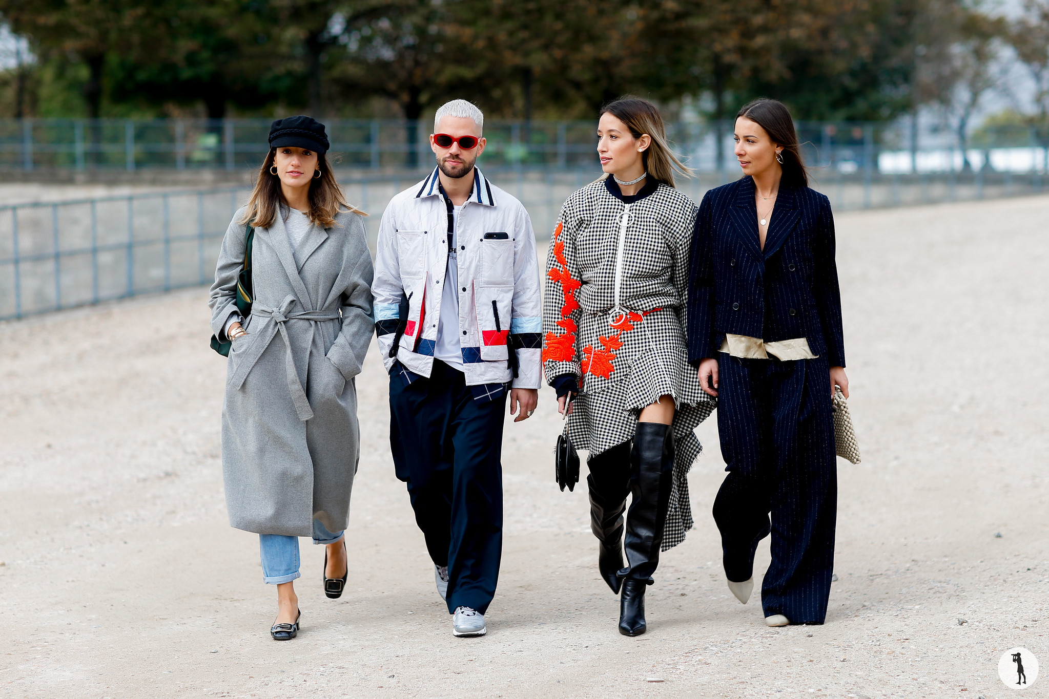 Kenza Sadoun el Glaoui, Js and Alice Jaimetoutcheztoi, Alex Closet - Paris Fashion Week SS18 (1)