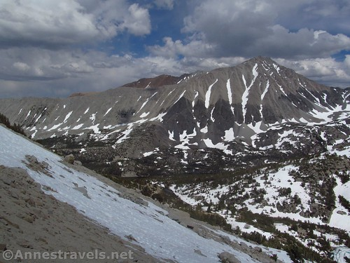 Mt. Morgan from high on the slopes of Mt. Starr along the Mono Pass Trail, Inyo National Forest, California