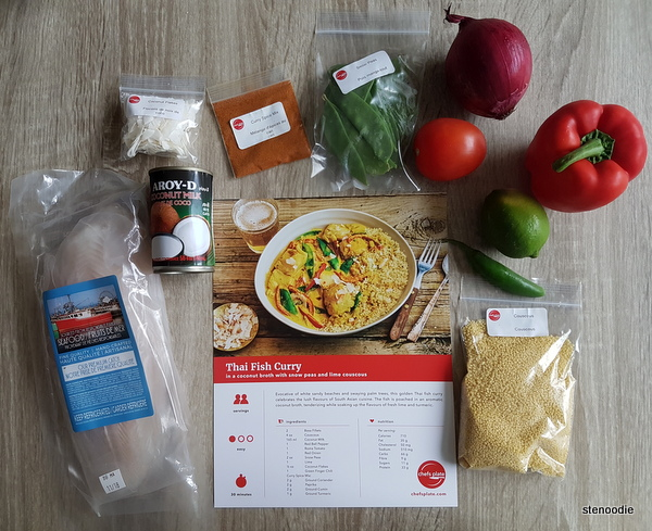 Thai Fish Curry ingredients