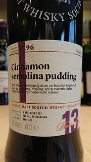 SMWS 37.96 - Cinnamon semolina pudding