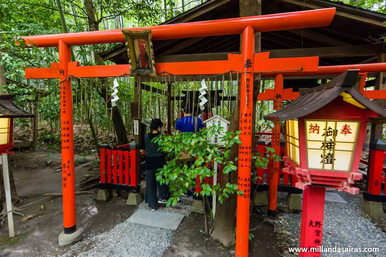 Templo Nonomiya, en el bosque de bambú de Arashiyama, Kyoto