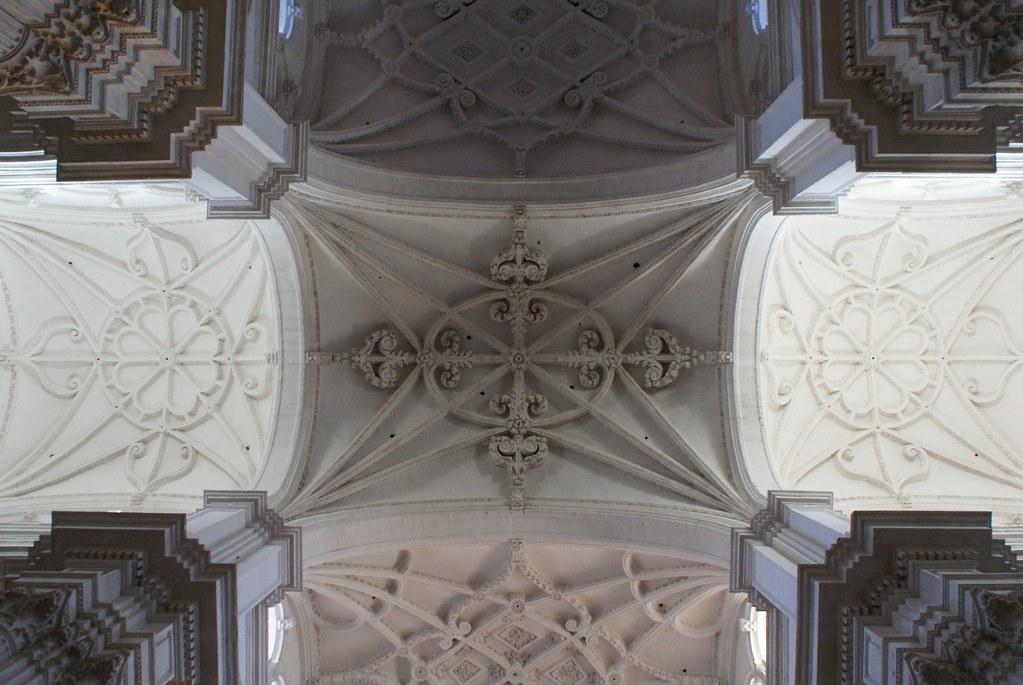 Superbe plafond de la cathédrale de Grenade.