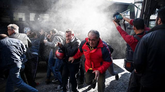 Κινητοποίηση του ΠΑΜΕ για το χτύπημα στο δικαίωμα της απεργίας