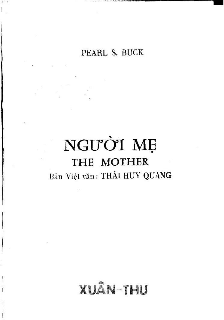 Người Mẹ - Pearl S. Buck