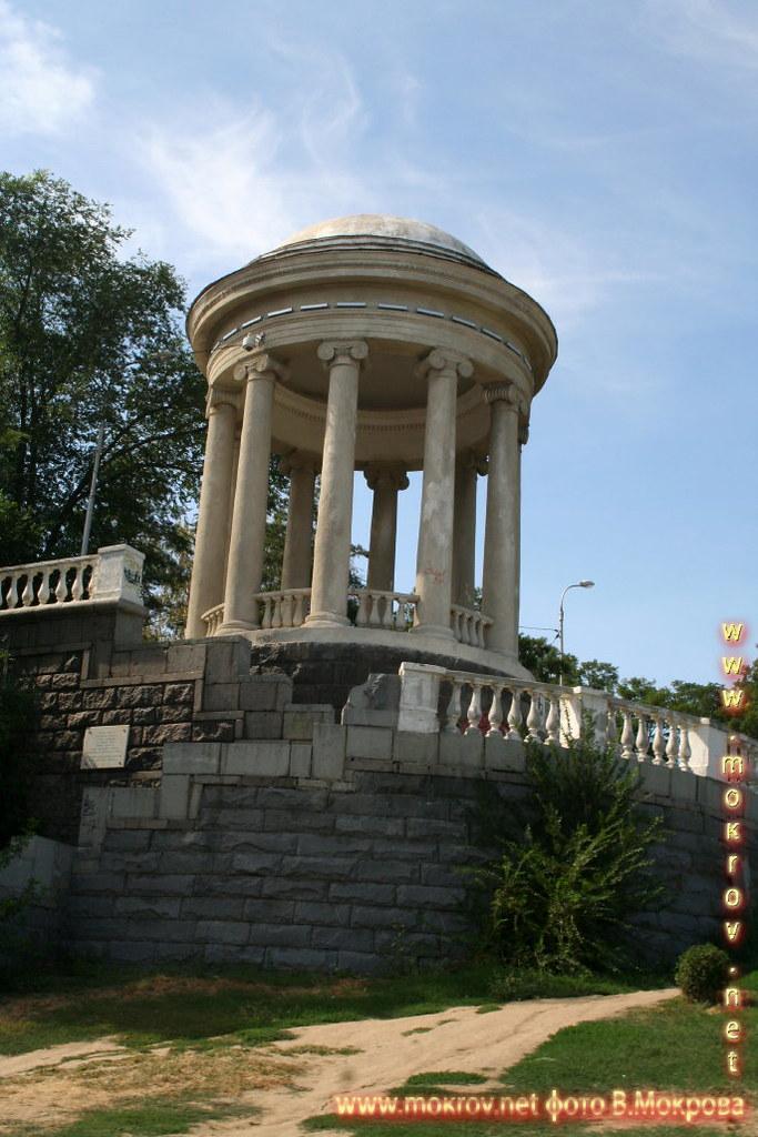 Город Волгоград с фотоапаратом прогулки туристов