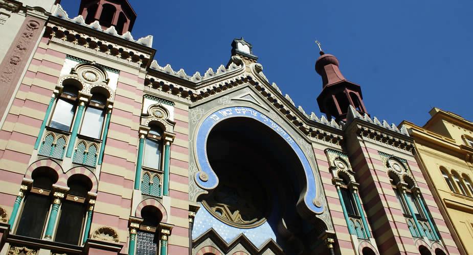 Tips Praag: art nouveau in Praag, Jubilee Synagoge | Mooistestedentrips.nl