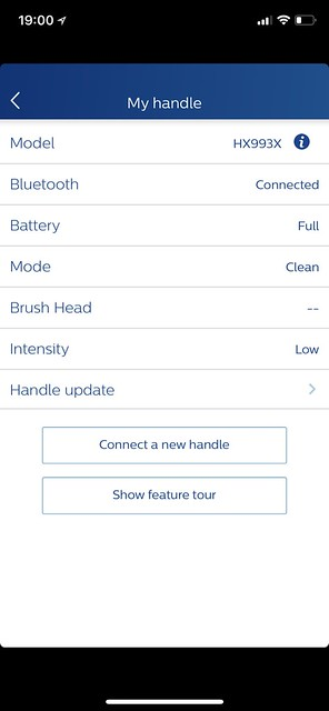 Philips Sonicare iOS App - My Product Details