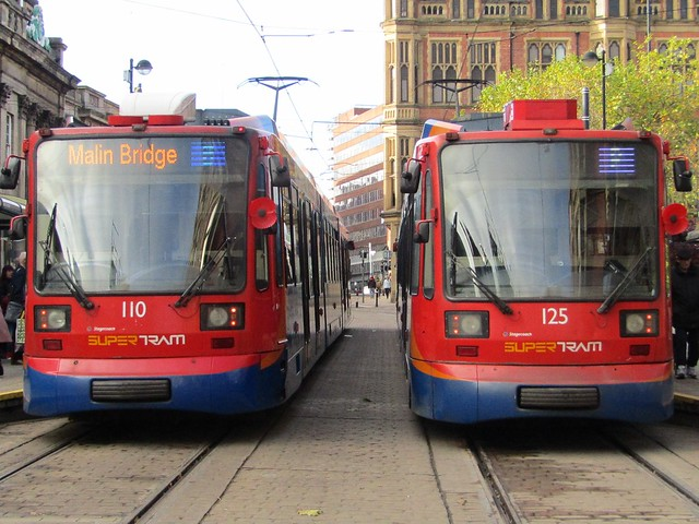 Double Supertram By Stagecoach In Sheffield