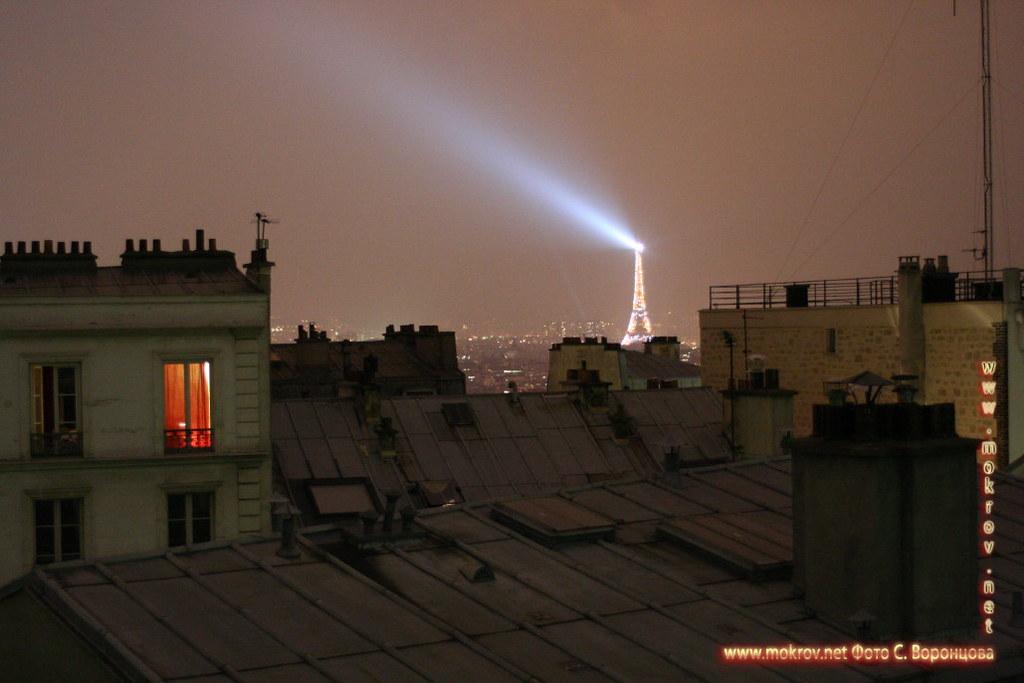 Исторический центр Парижа фотографии сделанные днем и вечером
