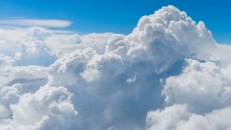clouds in the high atmosphere