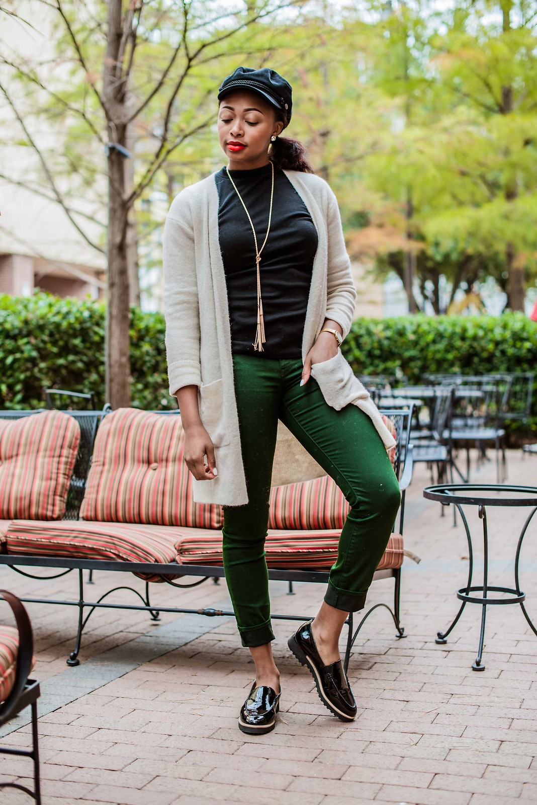 how to style green jeans, Dallas fashion blogger
