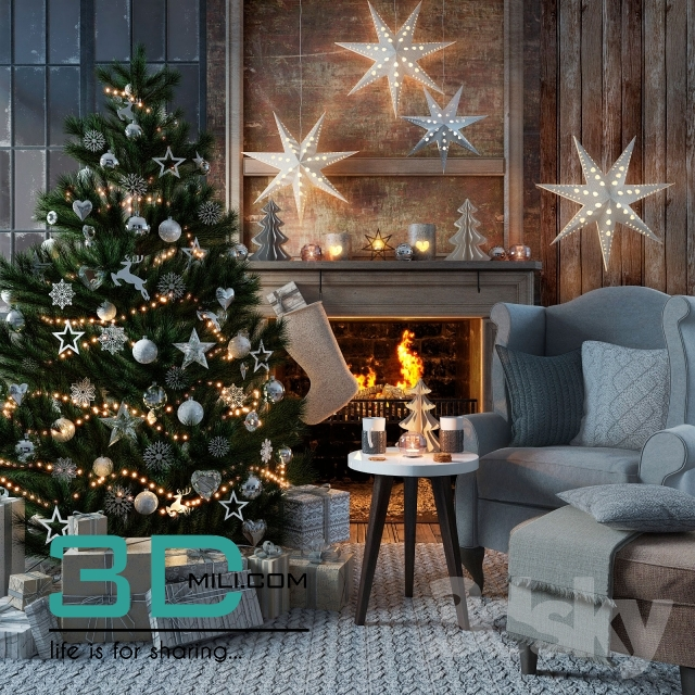 Christmas Decor 11 3dmodel Free Download
