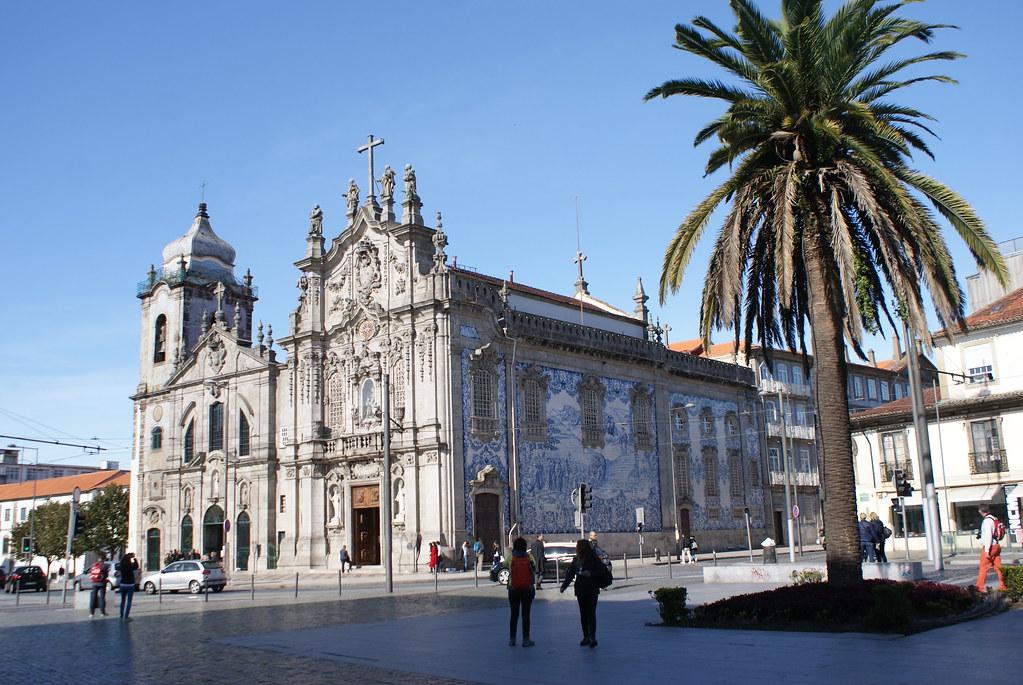 Eglise des Carmes (Igreja do Carmo) dans le quartier de Baixa / Sé à Porto.