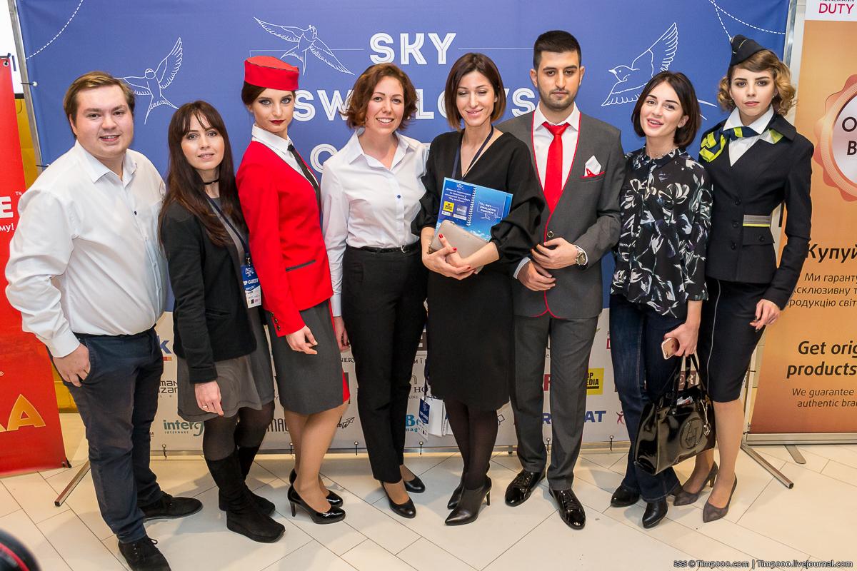 Самые красивые стюардессы! Sky Swallows 2017