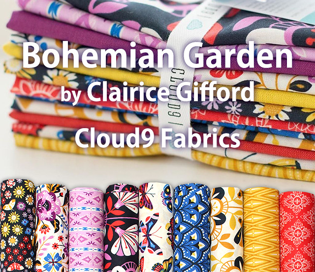 Cloud9 Fabrics Bohemian Garden Collection by Clairice Gifford