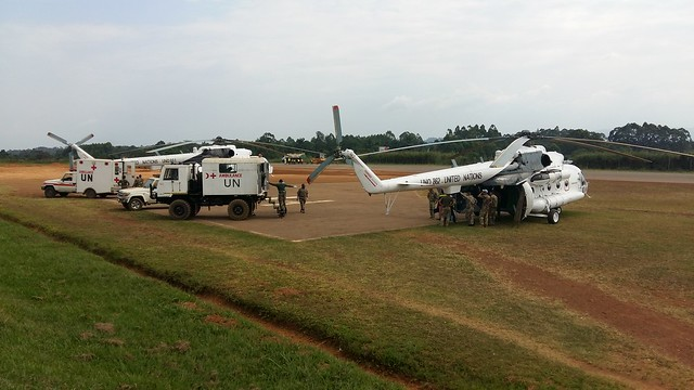 Medical evacuation of Peacekeepers wounded