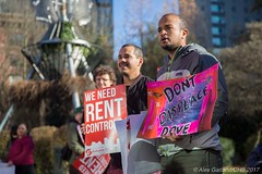 Displacing at Tenant Rights Rally - December 2017 Photos by Alex Garland
