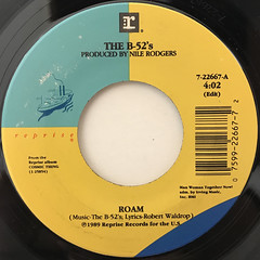 THE B-52'S:ROAM(LABEL SIDE-A)