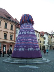 Sculpture of a giant bobble hat - Ljubljana  2ca7c7f14
