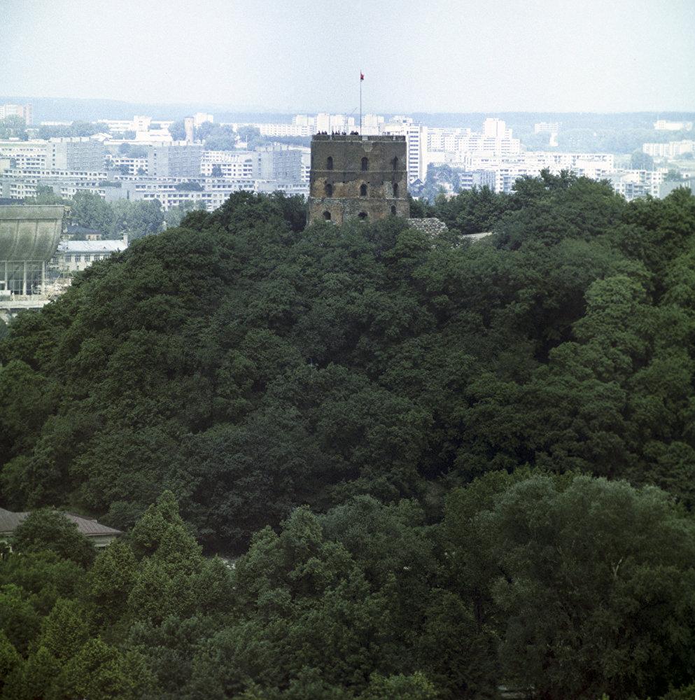 Башня Гедеминаса в Вильнюсе. 1974 год.