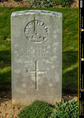 Senlis Communal Cemetery Extension Unknown Australian Soldier
