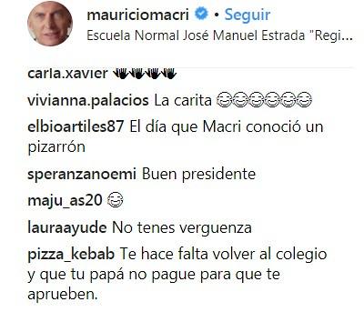 Macri comentarios 2