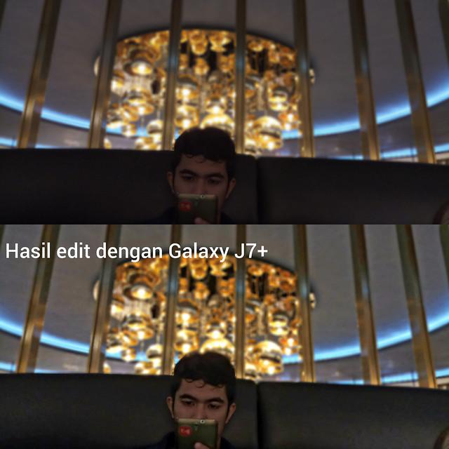 Hasil edit dengan aplikasi photo editor bawaan pada Galaxy J7+ (Liputan6.com/ Agustin Setyo W)