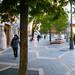 Delightful Urban Experience: enormous sidewalks