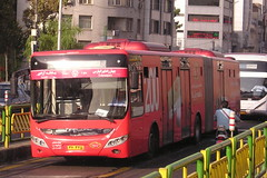 Yutong articulated service bus.
