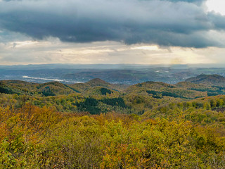 Blick vom Großen Oelberg über das Siebengebirge in das Rheintal