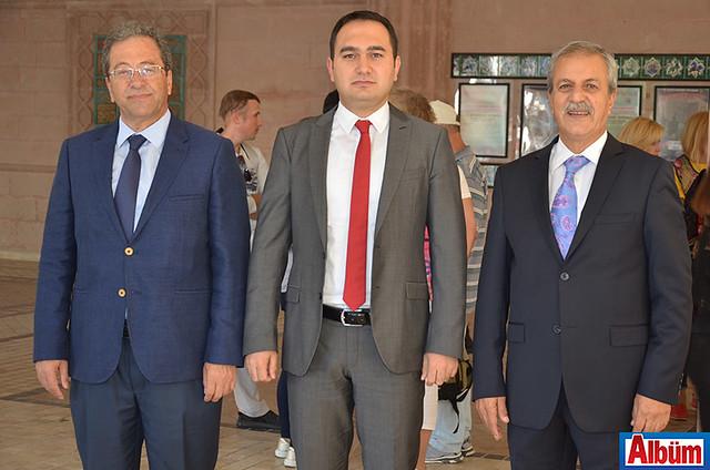 AHEP Rektörü Prof. Dr. Mehmet Durdu, Alanya Cumhuriyet Başsavcısı Yasin Emre, Alanya Belediyesi Yabancılar Meclisi Başkanı Abdullah Karaoğlu
