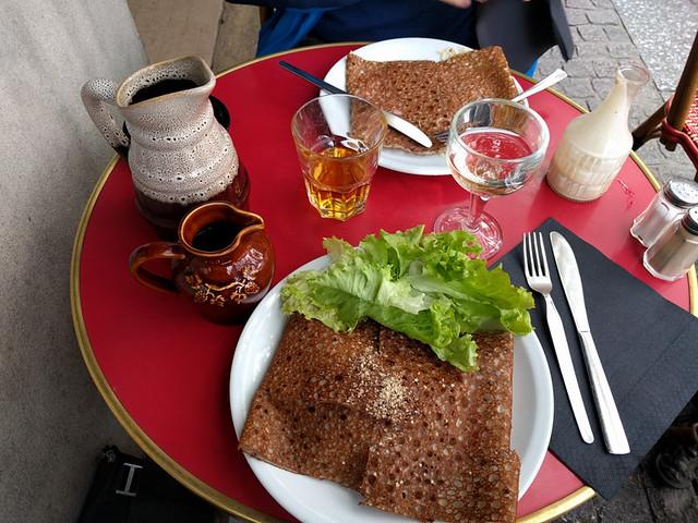 buckwheat crepes @ Crêperie Beaubourg