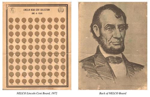 NELCO Lincoln Cent coin board