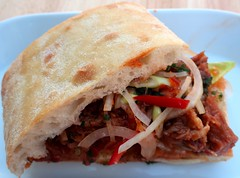 PULLED HOISIN-PORK CIABATTA SANDWICH