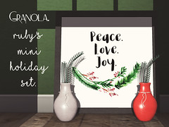 Granola. Ruby's Mini Holiday Set.