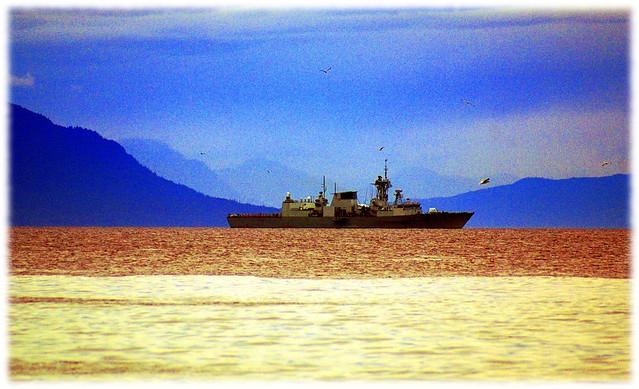 HMCS Calgary near Nanaimo -  Sony DSLR-A300 with Sony 75-300mm 1:4.5-5.6 Zoom