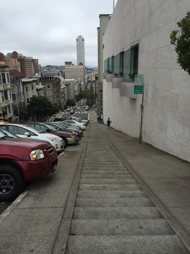 Streets with steps in San Francisco