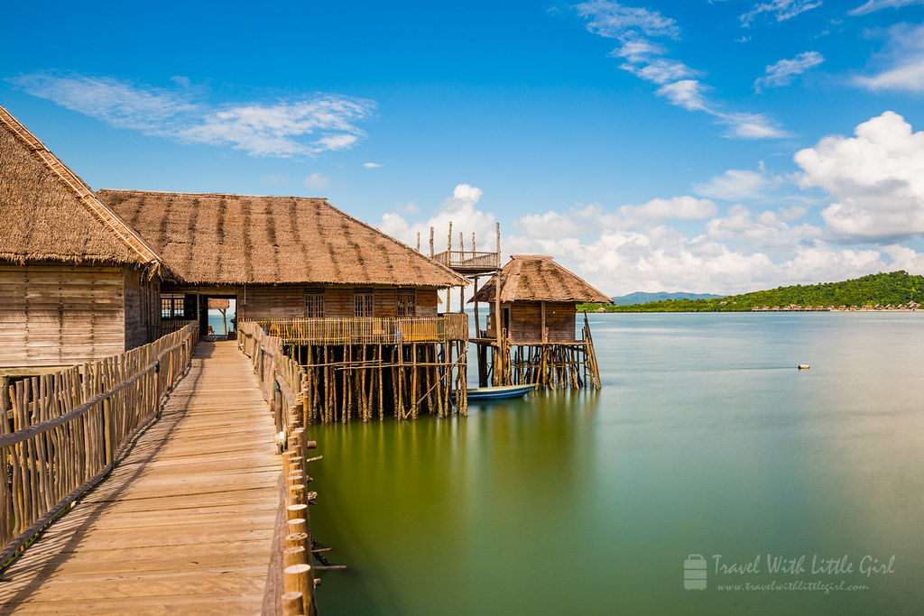 The walk to the jetty for the Telunas Private Island at Telunas Beach Resort