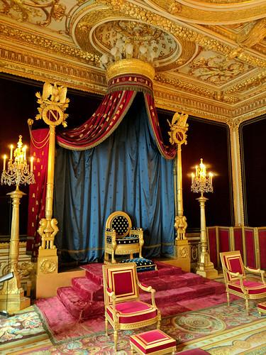 throne room @ Château de Fontainebleau
