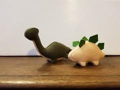 Felt Dinosaurs set #2 - Tan/Greens