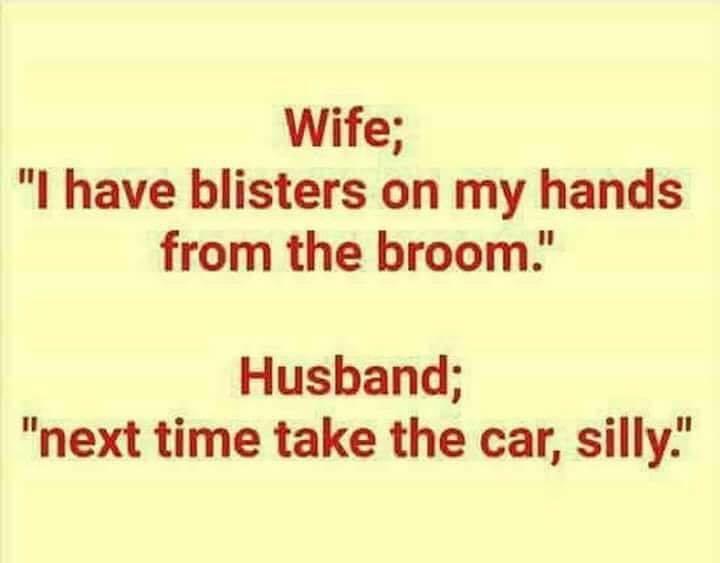 Broomstick or car