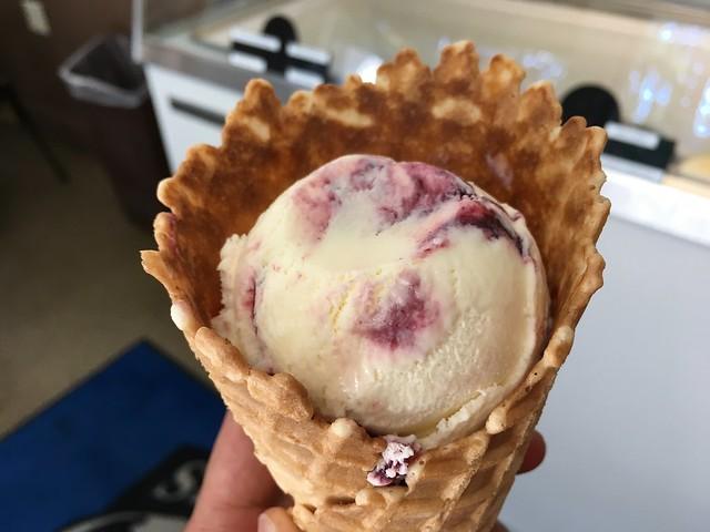 Wild mountain blackberry ice cream - Seabolt's at Deception Pass
