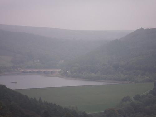 Ladybower Reservoir, A 6013 Bridge and Bamford Edge