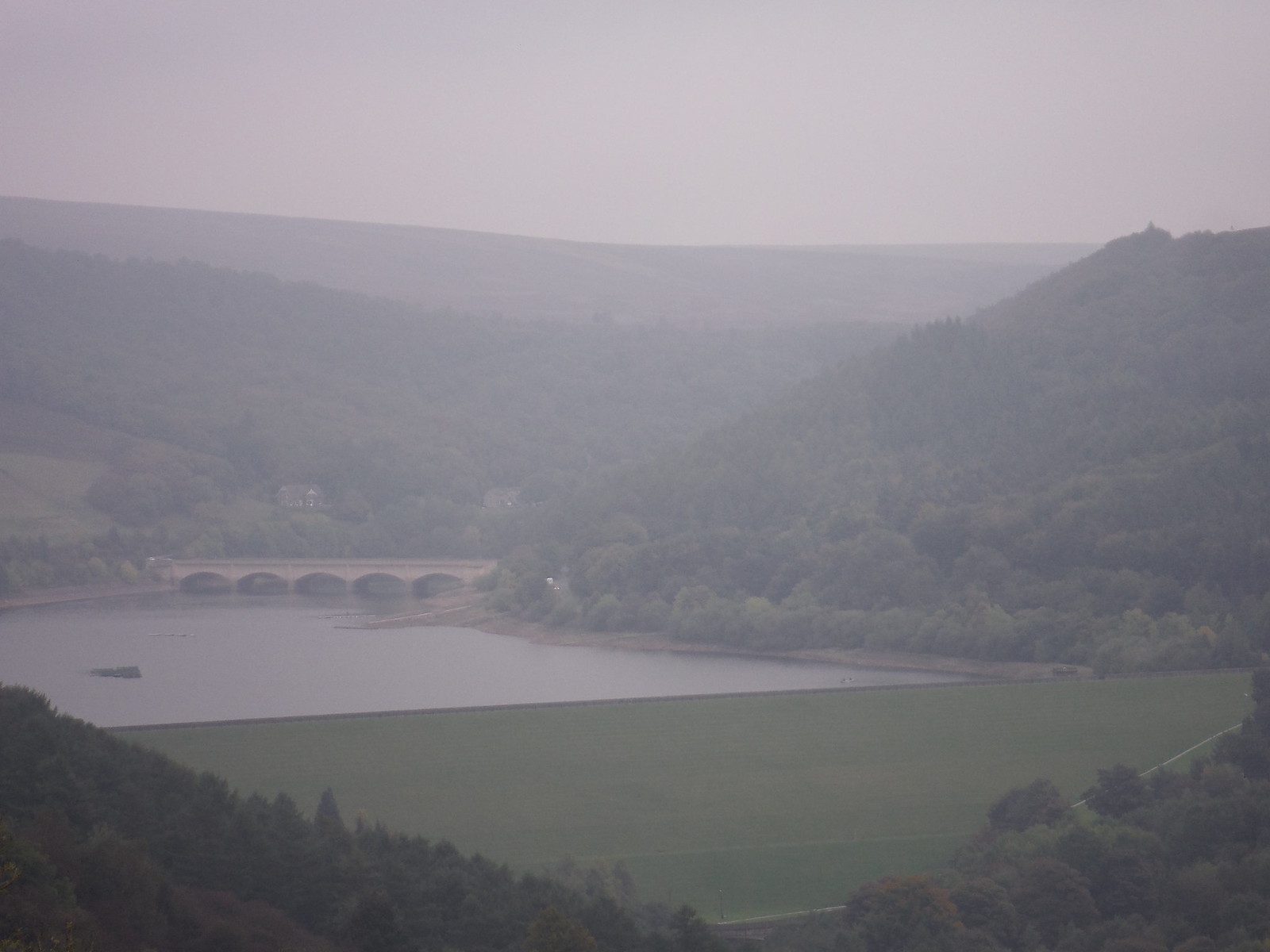 Ladybower Reservoir, A 6013 Bridge and Bamford Edge SWC Walk 302 - Bamford to Edale (via Win Hill and Great Ridge)