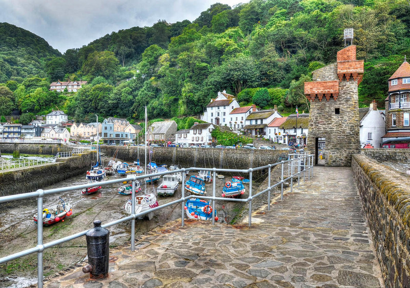 The harbour at Lynmouth, Devon. Credit Baz Richardson, flickr