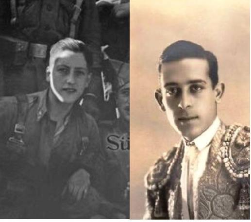 Parecido entre Marcial Lalanda y un soldado franquista que formaba parte del grupo que tomó el Alcázar